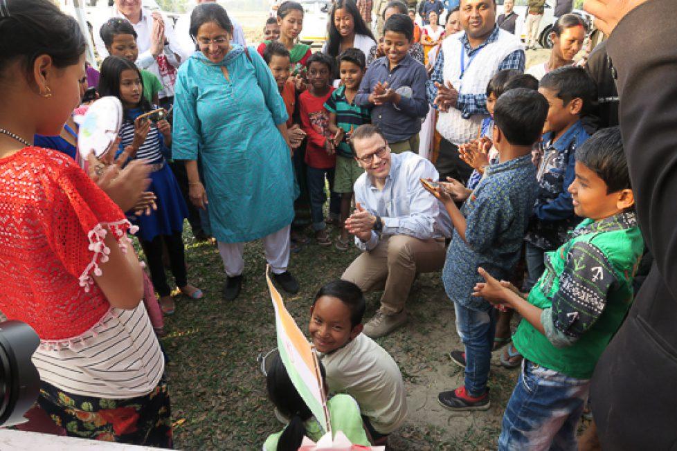 Prins Daniel besökte svenskt utbildningsprojekt i Indien, 13–14 februari 2019
