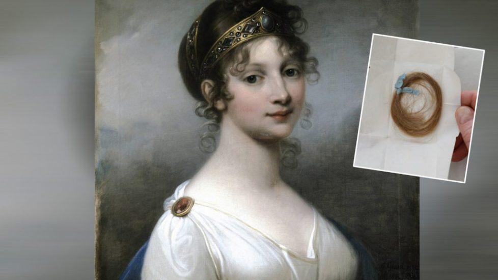 Portrait of Queen Louise of Prussia (1776-1810), 1802. Artist: Grassi, Józef (1757-1838) Königin Luise Locke ?