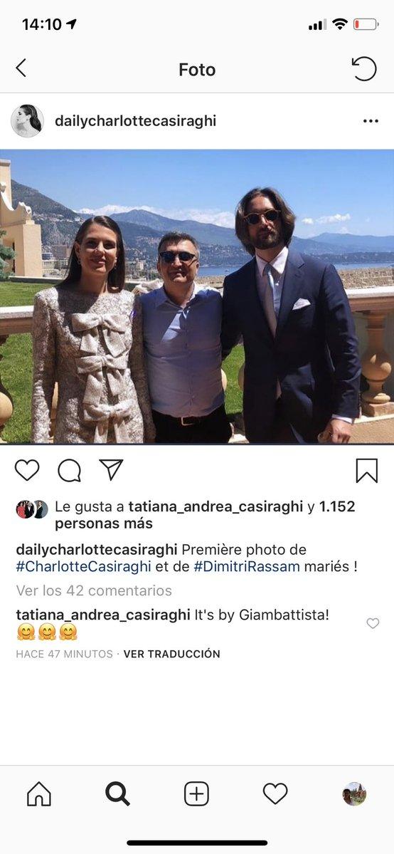 Et voici donc la photo des mariés  Dimitri Rassam et Charlotte Casiraghi  dans l\u0027attente