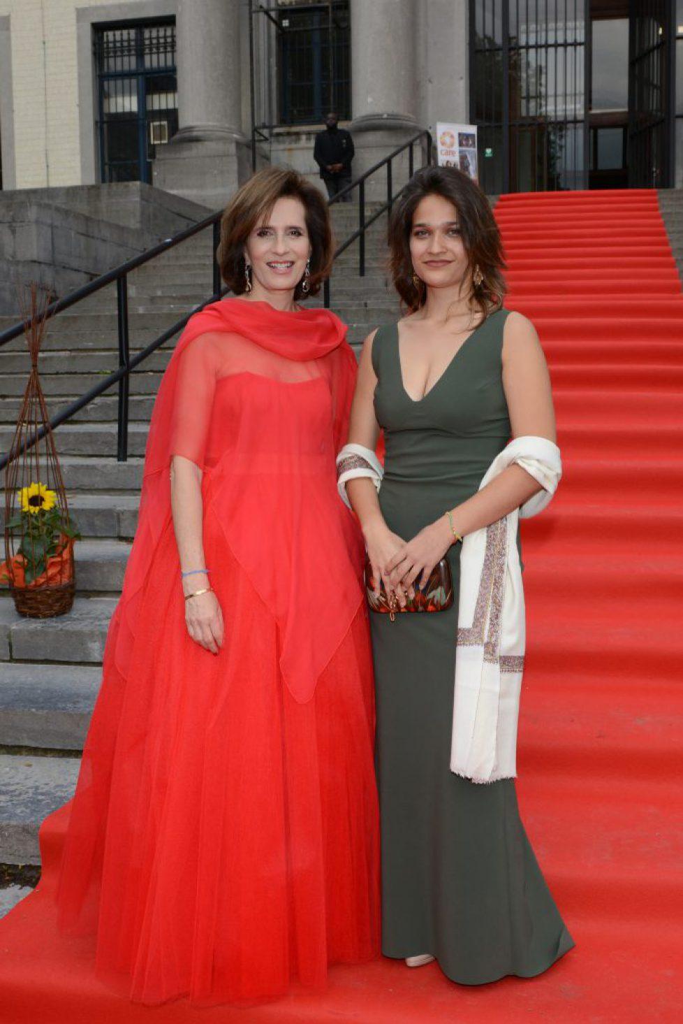S.A.R la princesse Esmeralda de Belgique et sa fille Alexandra Moncada