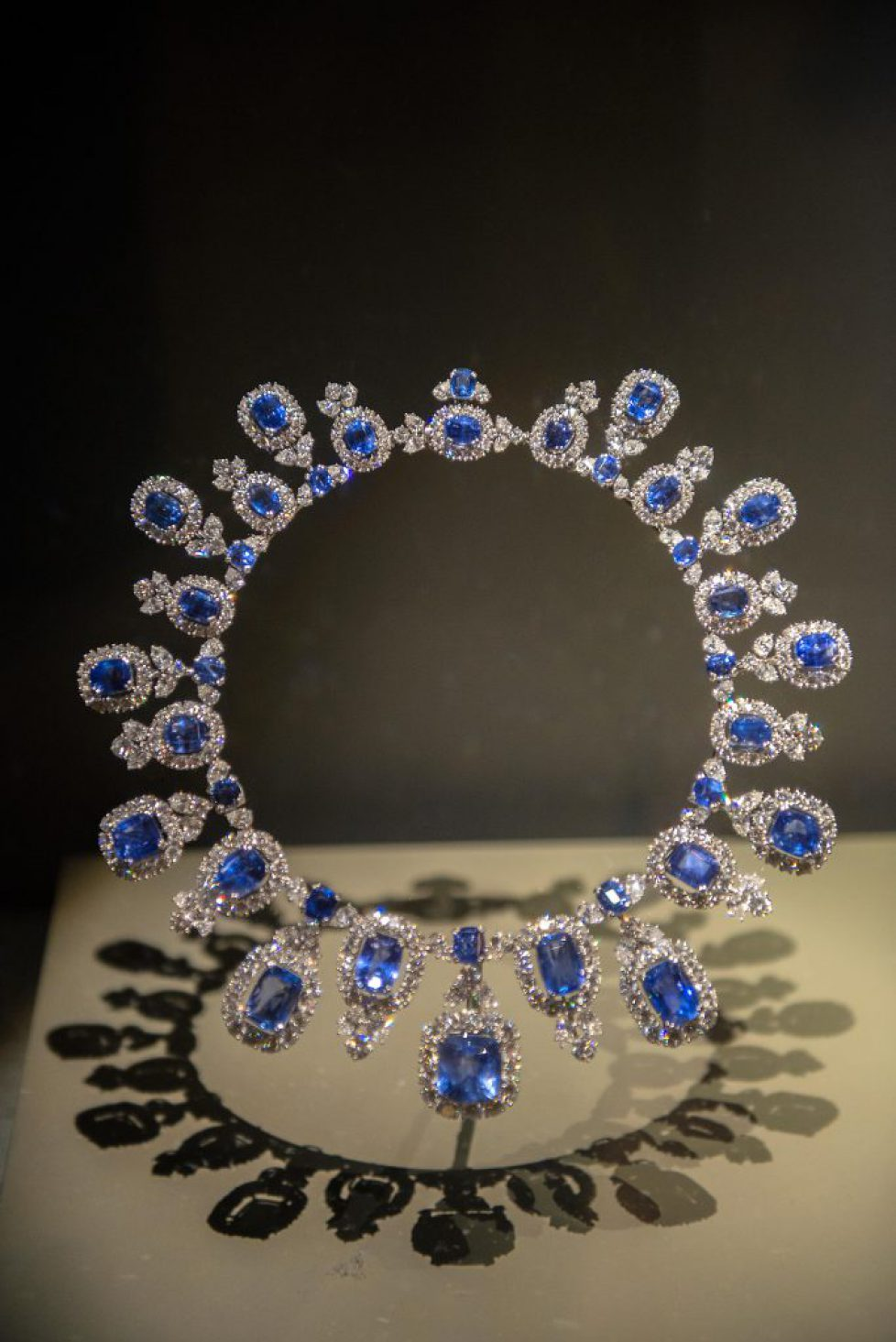 Hall diamond and sapphire necklace, Natural History Museum, Washington, DC, USA (Editorial Usage Only)