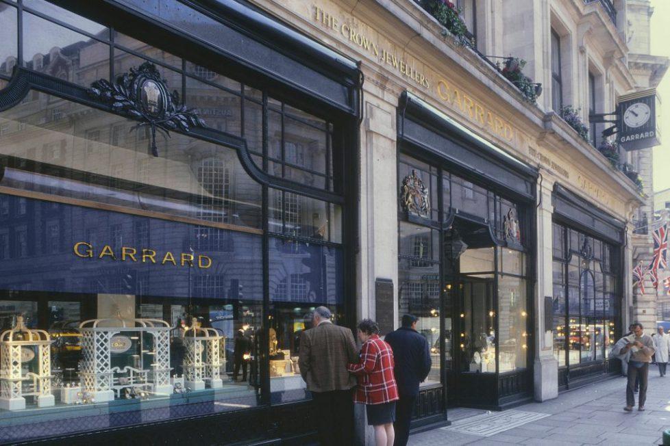 Garrard Jewellers, Regent Street, London, England, UK. Circa 1980's