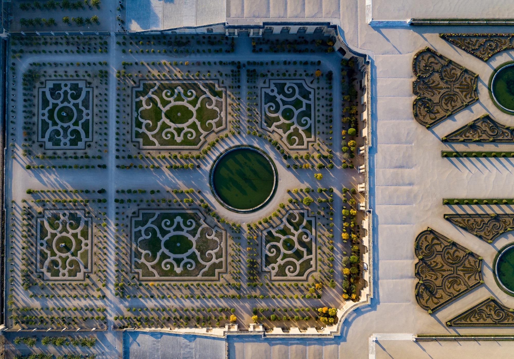L Orangerie De Versailles Vue Du Ciel Noblesse Royautes