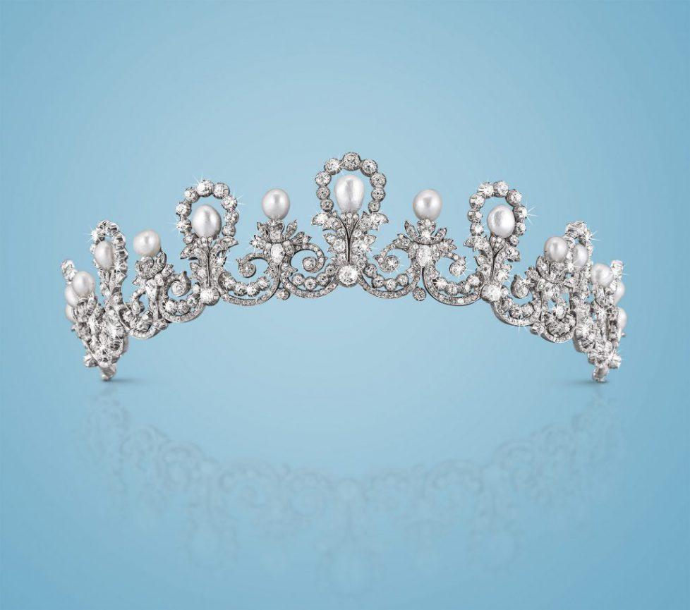 Orientperlen Diamant Diadem