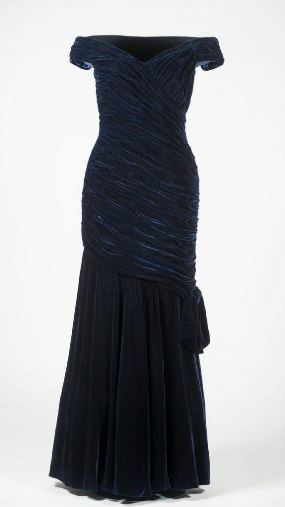 636148230079645318--Travolta-dress---Ink-blue-velvet-Victor-Edelstein