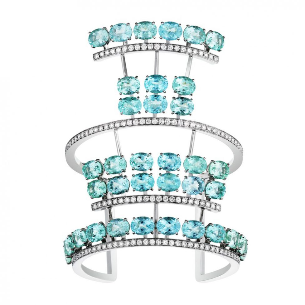 Akillis-Guarani-White-Gold-Bracelet-paved-with-36-Paraiba-Stones