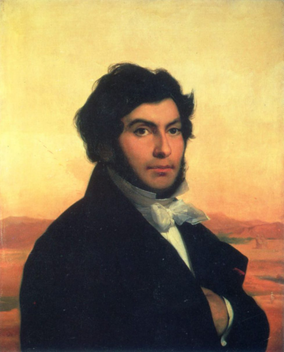 JEAN-FRANCOIS CHAMPOLLION /n(1790-1832). French Egyptologist: oil by Leon Cogniet.