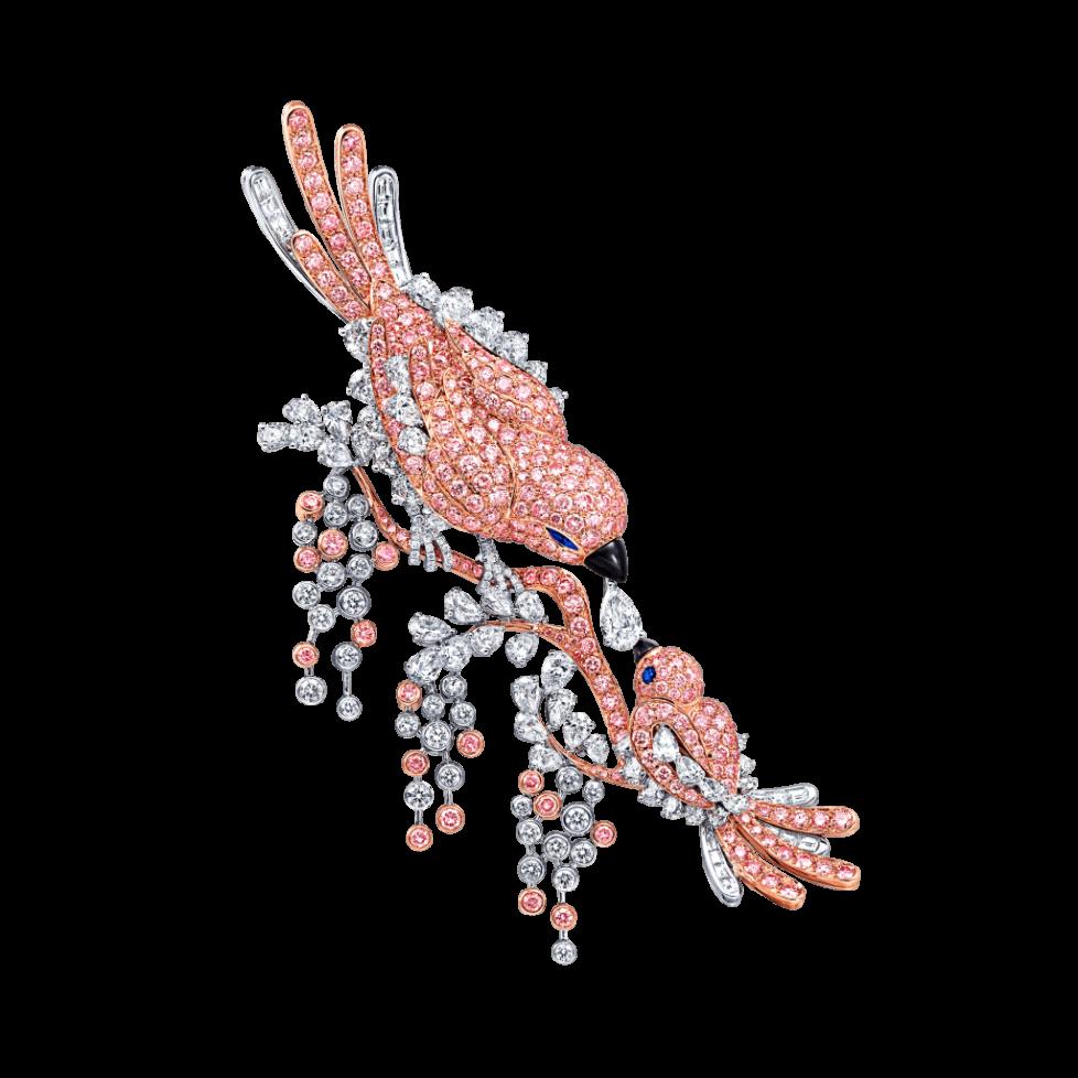 Graff-Rare-coloured-diamond-high-jewels-A-23_63ct-Graff-Pink-and-white-diamond-bird-brooch-with-onyx-beaks-and-sapphire-eyes-GA1043