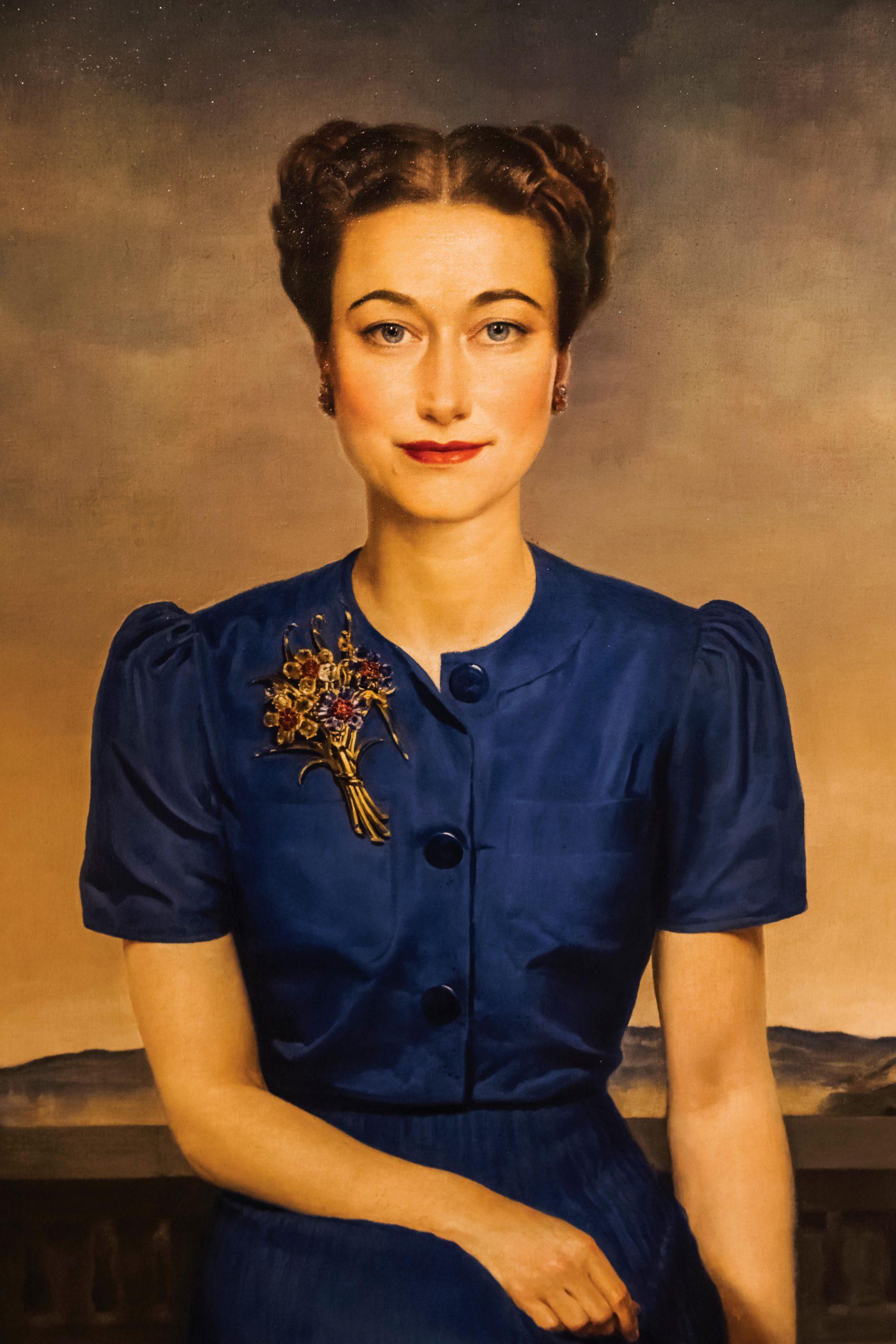 Portrait of Wallis Duchess of Windsor by Gerald Leslie Brockhurst dated 1939