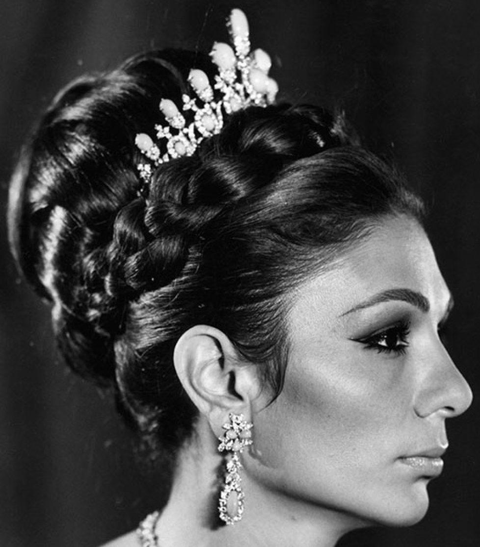 Turquoise Tiara () Empress Farah of Iran 1