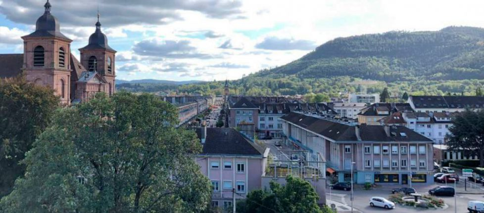 Saint-Die. le-centre-ville-reconstruit